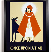 Image of Little Red Riding Hood, Once Upon A Time, Giclee Art Print, 8 x 10