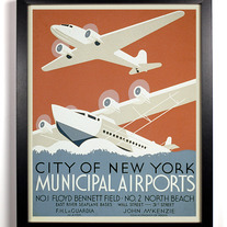 Image of New York Airports, Giclee Art Print, 8 x 10