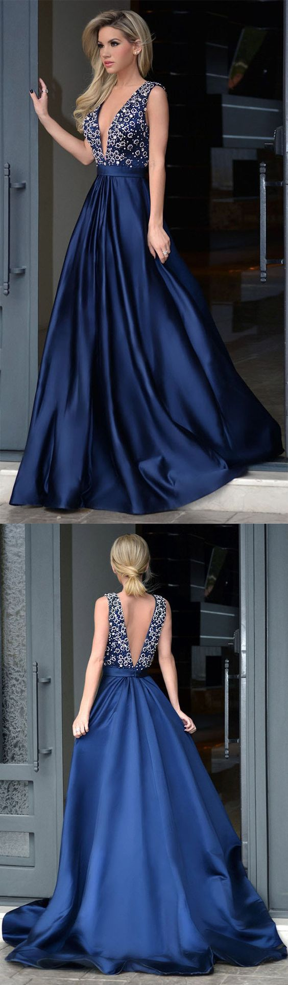 Long Formal Dresses A-line, Royal Blue Prom Dresses, 2018 Party ...