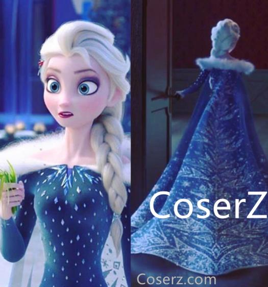 Olafs frozen adventure elsa cape elsa cloak 205cm length olafs frozen adventure elsa cape elsa cloak 205cm length voltagebd Choice Image
