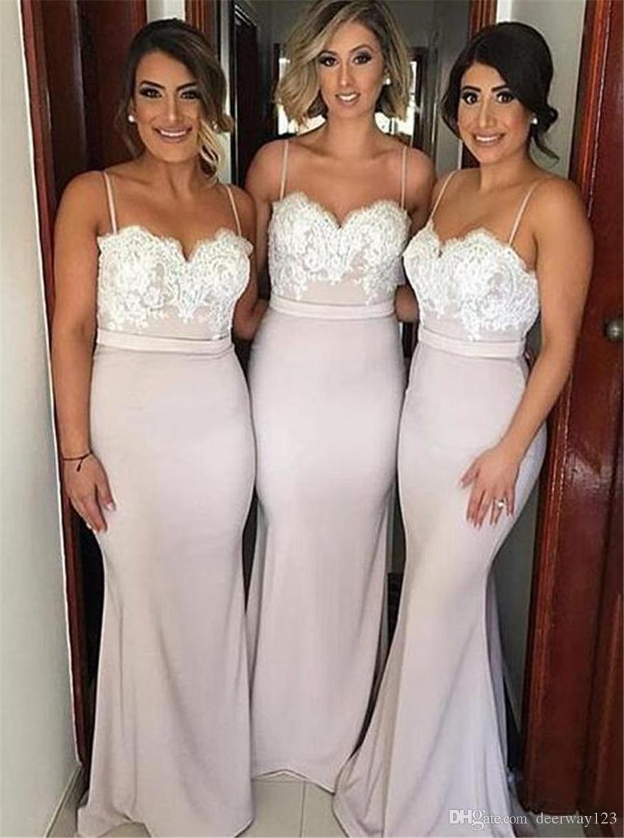 Mermaid Bridesmaid dress,Spaghetti Straps Prom dress, Wedding formal ...
