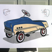 """My First Car…"" Limited edition art print"