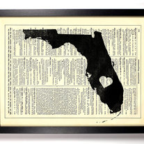 Image of I Love Florida State, Vintage Dictionary Print, 8 x 10
