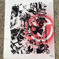 Handmade screen printed and spray painted Poster - LTD  medium photo