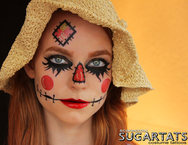 Gallery For > Woman Scarecrow Makeup