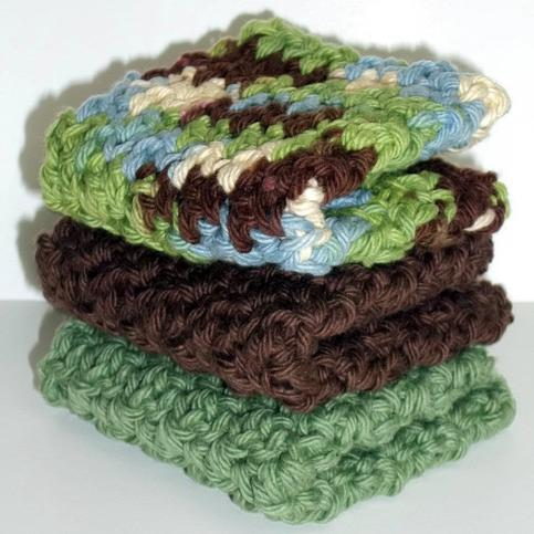 Green Apple Dishcloth Set