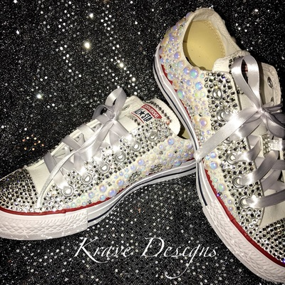 Adult Rhinestone Converse Shoes, Crystal Shoes, Wedding Shoes ...