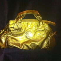 GUCCI Bronze Gold Patent Leather Metallic Hysteria handbag! Gorgeous