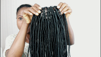 Faux Locs Wig (Handmade wig) 12 inches to 18 inches $350
