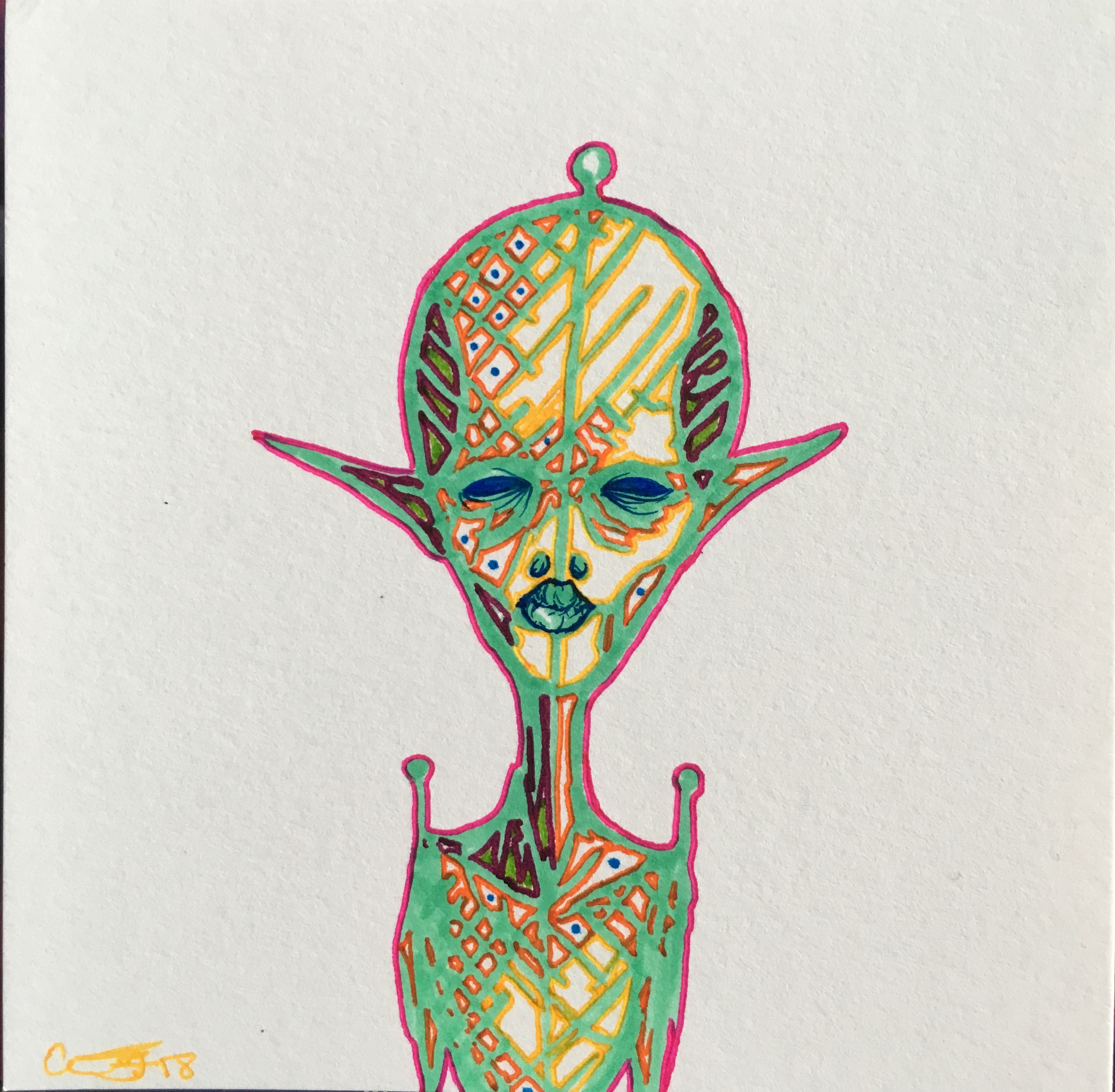 Psychedelic Alien Portrait oo2 · Through Glass and Gemstones ...