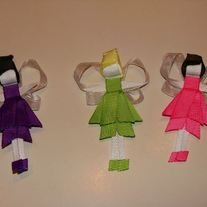 Ribbon Sculpture Hair Clip for Girls and Babies Princess Collection Disney inspired Tinkerbelle