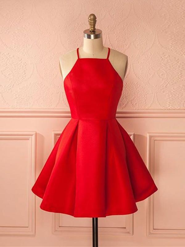 Simple Red Short Prom Dress Short Red Homecoming Dress Red Short