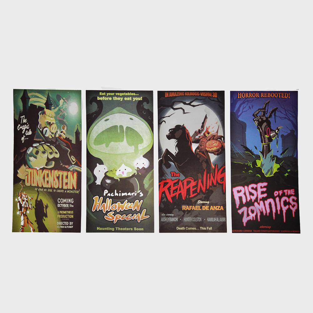 overwatch halloween movie posters - set of 4 · babbit's boutique