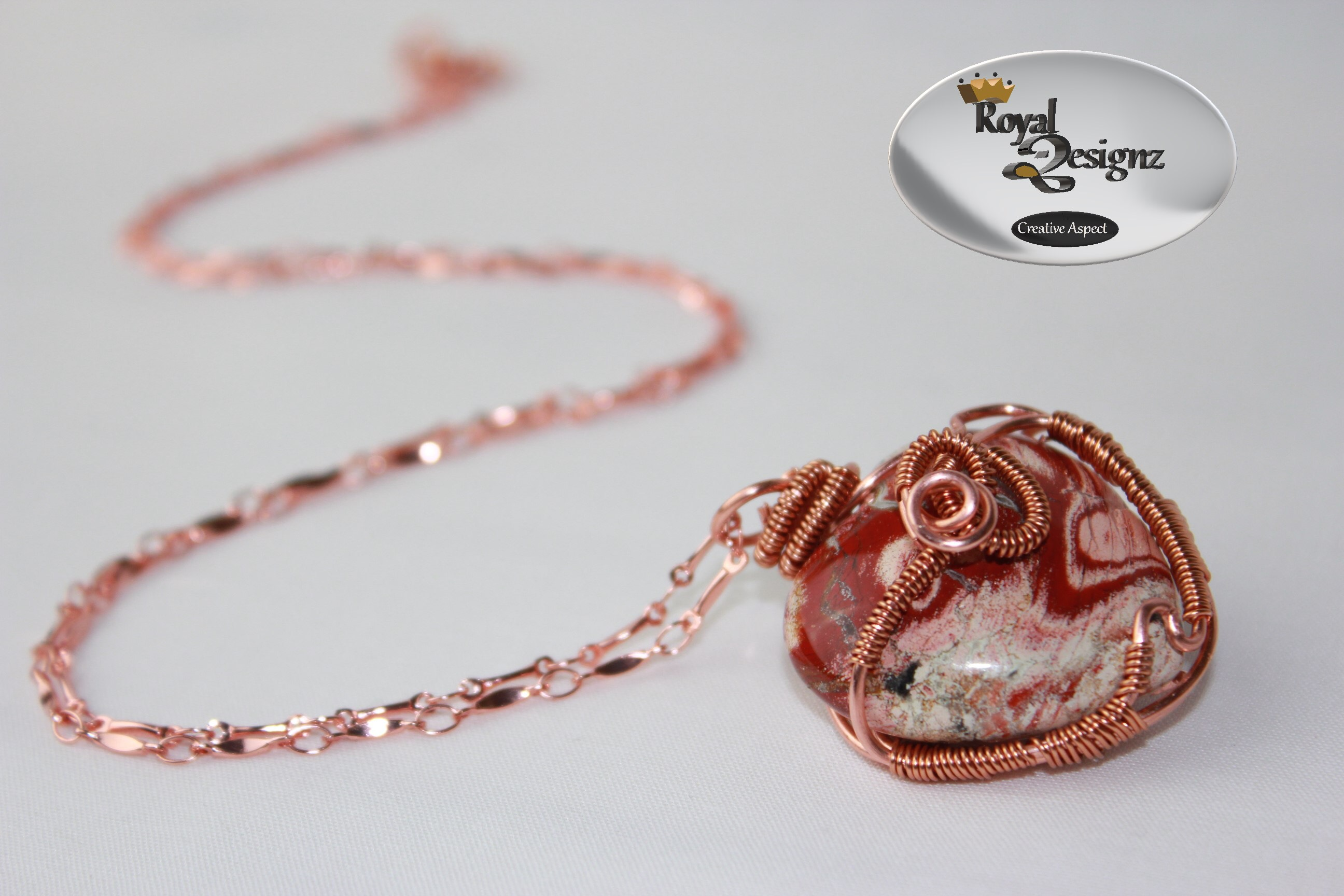 pendant necklace picasso orange pin jasper gemstone red aventurine