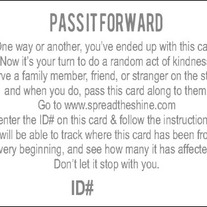 Pass it Forward Cards-Pack of 10