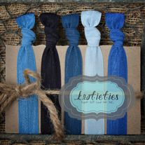 the blues : original {knotieties} 10 pack
