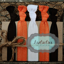 go team orange/black : original {knotieties} 10 pack
