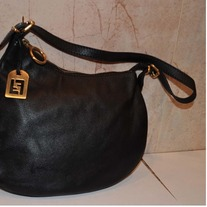 Auther Mini Hobo Shoulder h. FENDI Ostrik Black Calf Leat