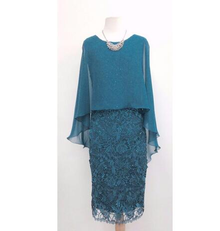 Hunter Green Lace Mother Of The Bride Dresses Sheath Knee Length ...