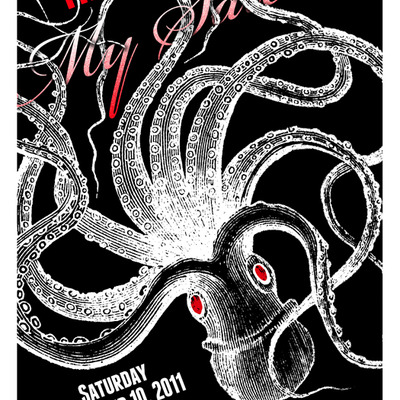 "11x17"" octopus poster"