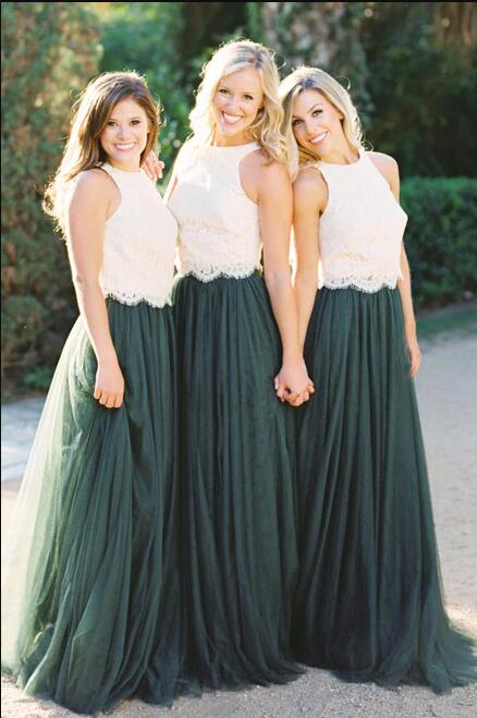 Dark Green Bridesmaid Dress