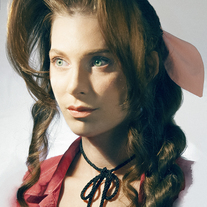 Aerith Gainsborough Portrait Cosplay Print medium photo