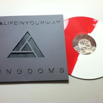 Kingdoms Red & White Vinyl w/Grey on Black Custom Die-Cut Sleeve
