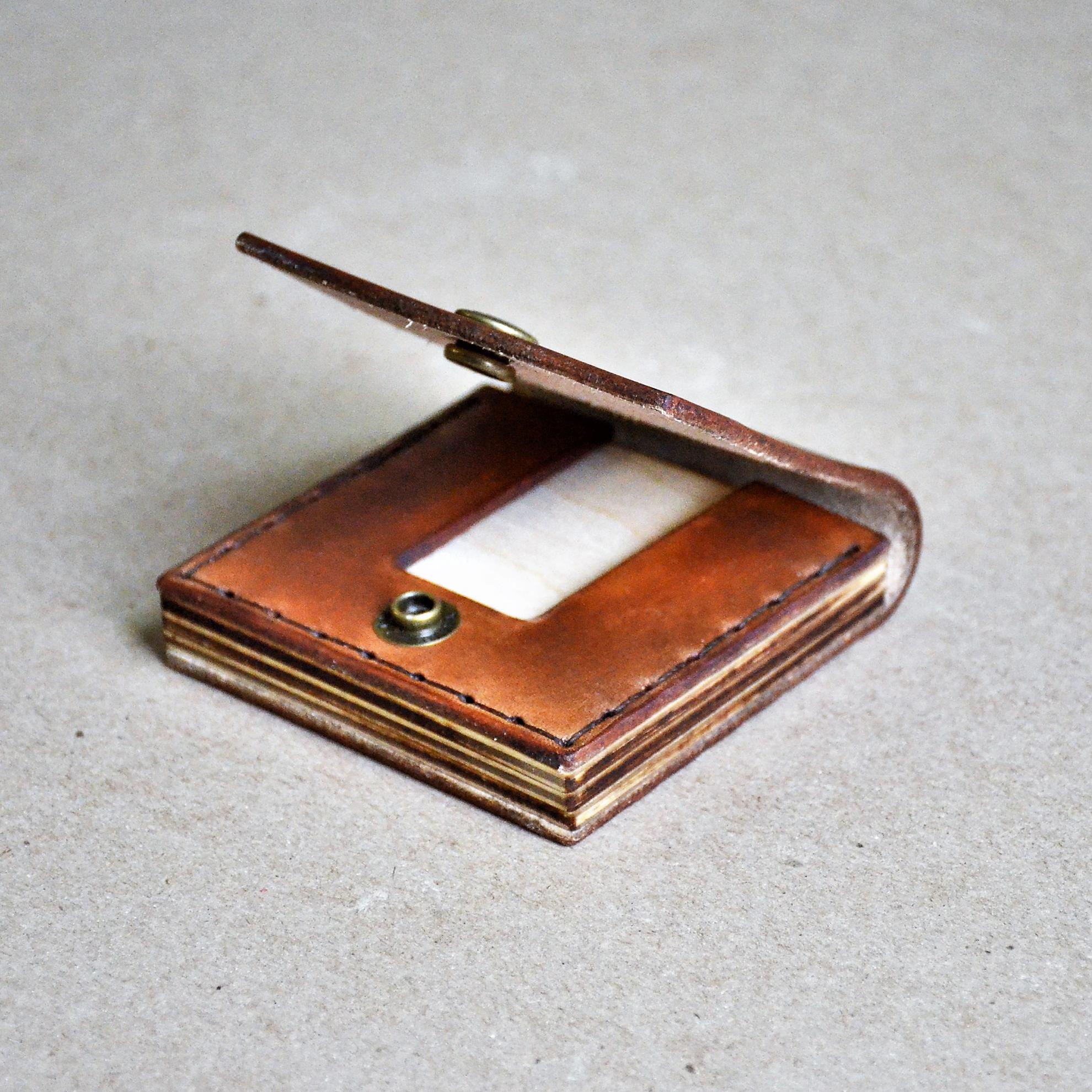 Square Business Card Wallet//Minimal Modern Rugged Card Holder Case ...