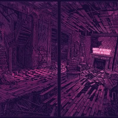 """""""meet in secret, speak in code"""" purple"""