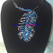 Blue Fishtail Necklace