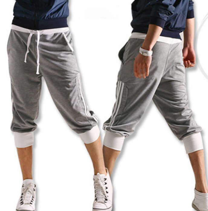 Stylish Casual Quarter Side Stripes Strip Pants Trousers Shorts ...