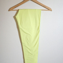 Lemon Yellow Crop Leggings (Brand New)