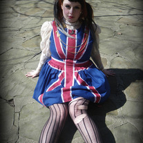 Gloomth Union Jack Flag Dress
