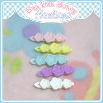 Tiny Treat Hair Clip - Flower Trio B