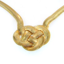 Gold Weave Necklace