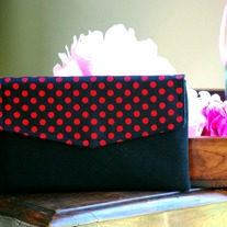 Envelope Clutch - Red Dots - RESERVED for Kikay Competition