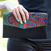 Envelope Clutch - Paisley