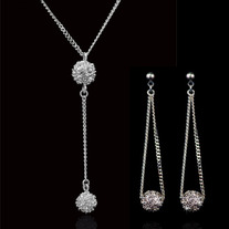 Crystal Studded Ball Drop Set