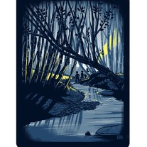 The Haunted Woods - Screenprined Art Print
