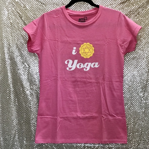 ddf55d41 Pink - I Love Yoga New Cotton Ladies T-Shirt on Storenvy