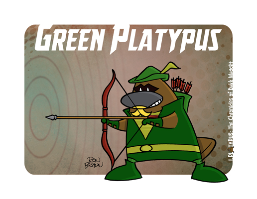i platypus green platypusarrow large print - Platypus Pictures To Print