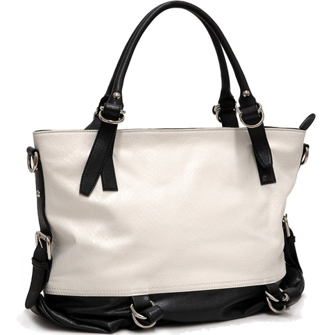 Two Tone Python Embossed Tote Bag Clearance