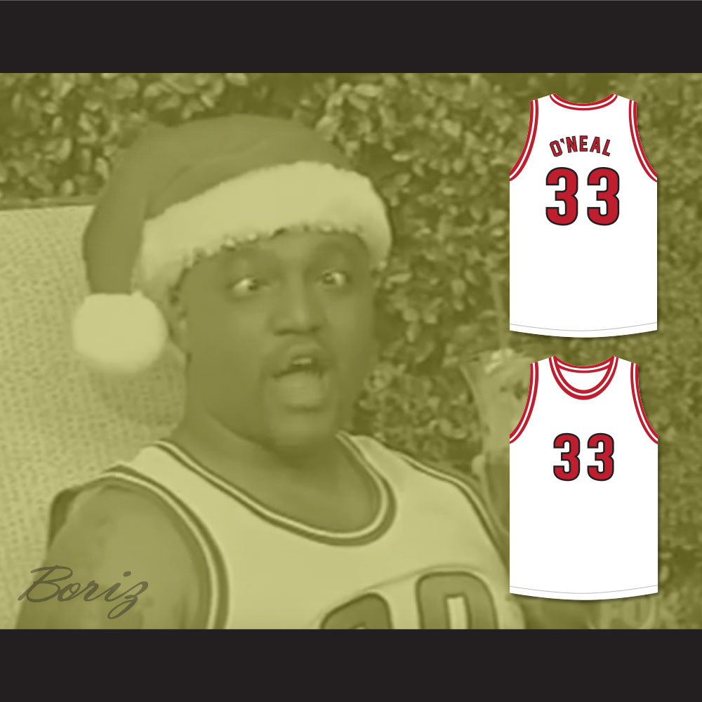 ... Shaquille O Neal 33 Christmas Special Basketball Jersey Shaq and The Former  Lakers Skit MADtv ... adf0e16e6