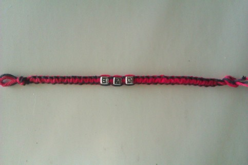 Boston Crusaders hemp bracelet