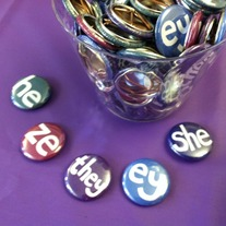 "1"" Pronoun Buttons"