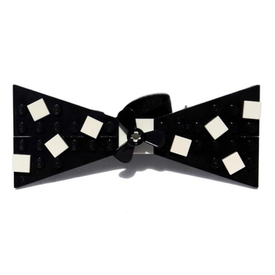 Lego® black with white confetti bow tie