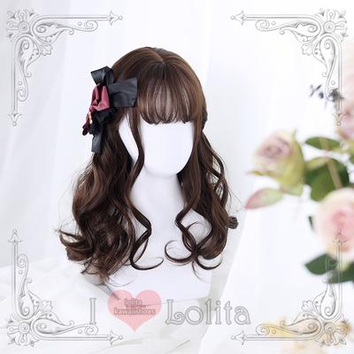Japanese fashion harajuku 2 colors long curly wigs daily wigs lk19030706