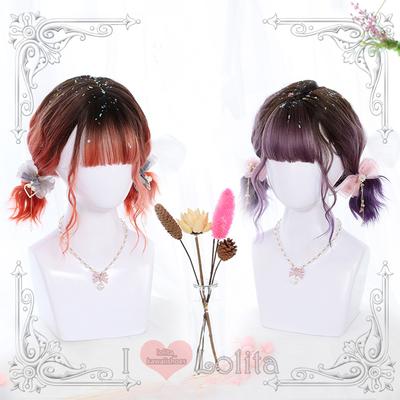 Japanese fashion harajuku 2 colors short curly wigs daily wigs lk19030707