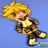 Len Kagemine Vocaloid - Custom Chibishou Bead Sprite Pixel Art Decoration