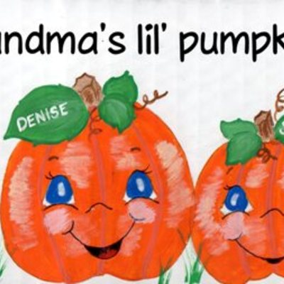 "6"" x 18"" lil' pumpkins (personalized sign) wall decor"